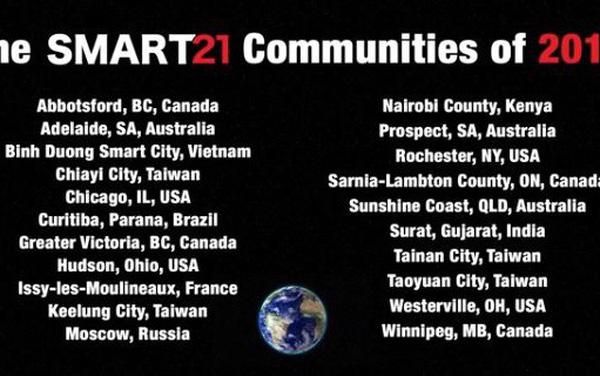 Bình Dương lọt vào danh sách 21 Thành phố thông minh tiêu biểu của thế giới năm 2019